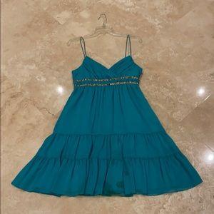 ABS Allen shorts Aqua blue dress